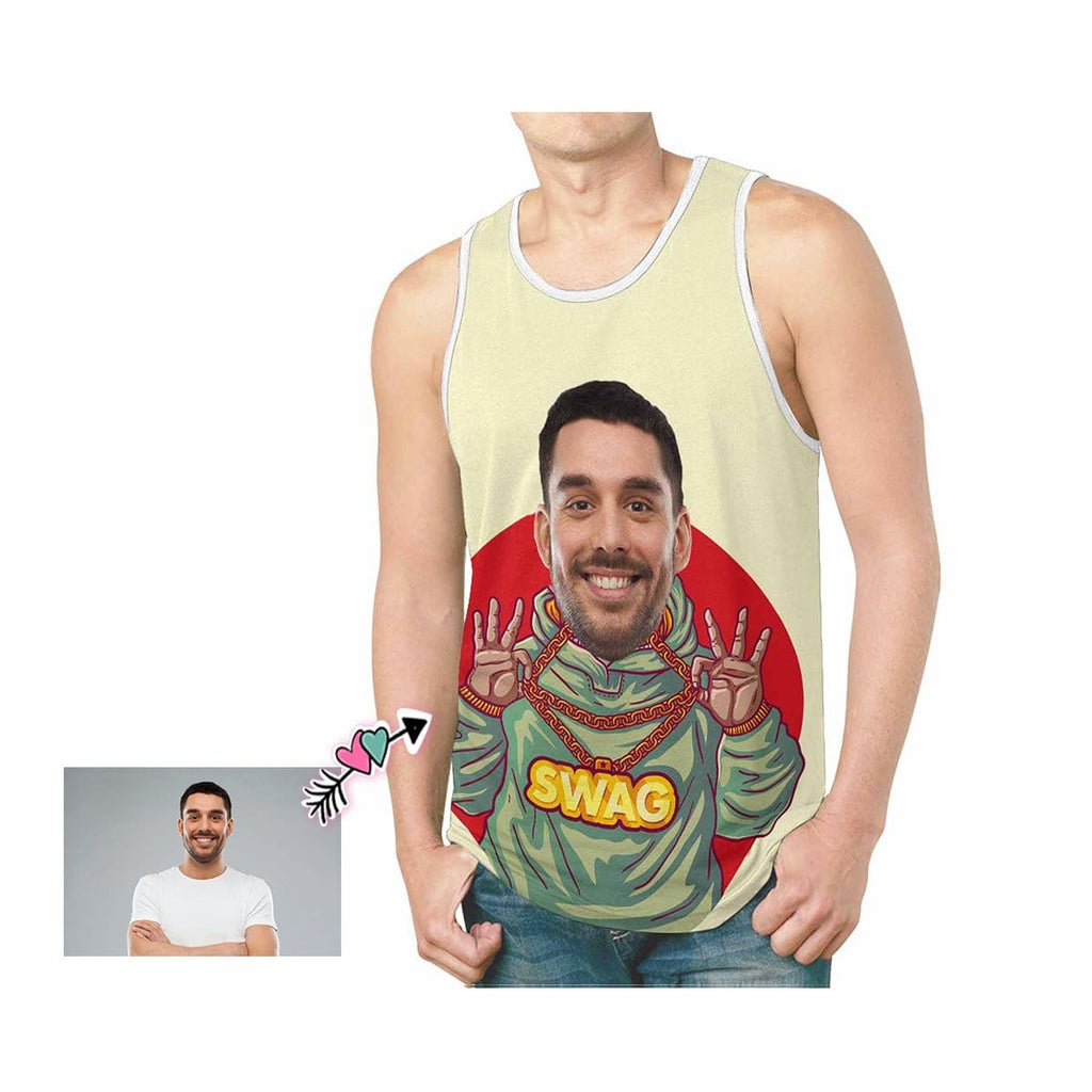 Custom Father Face SWAG Men's All Over Print Tank Top