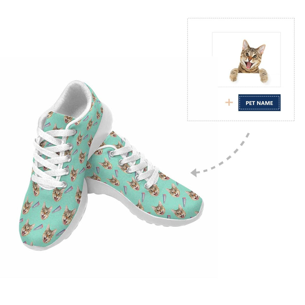 Custom Cat Face Name Sneaker