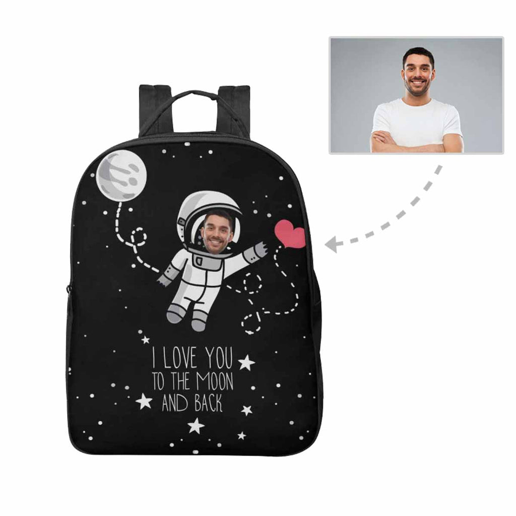 Custom Face Astronaut Unisex Nylon Backpack
