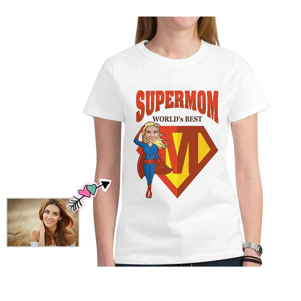Custom Mother Face Super Mom Mother's Day Women's T-Shirt