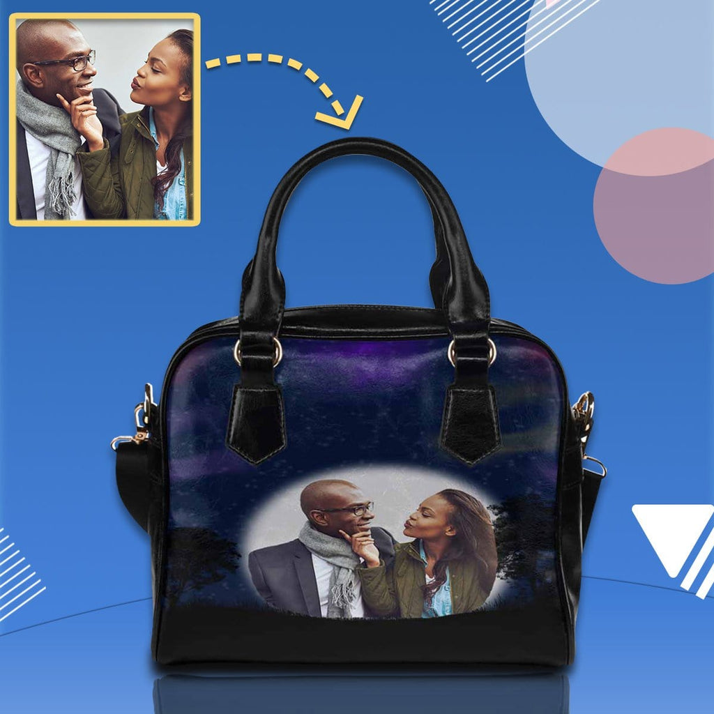 Custom Couple Photo Shoulder Handbag
