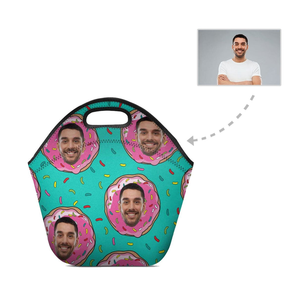 Custom Face Donut Neoprene Lunch Bag