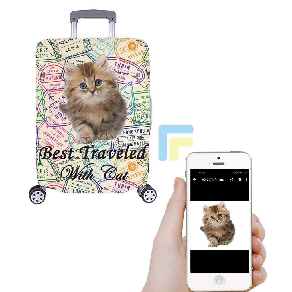 Custom Cat Best Travel Luggage Cover