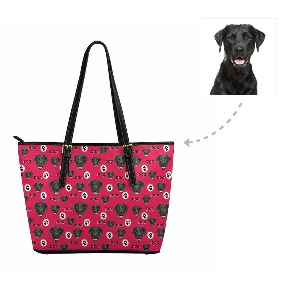 Custom Dog Face Paw Women's Tote Bag