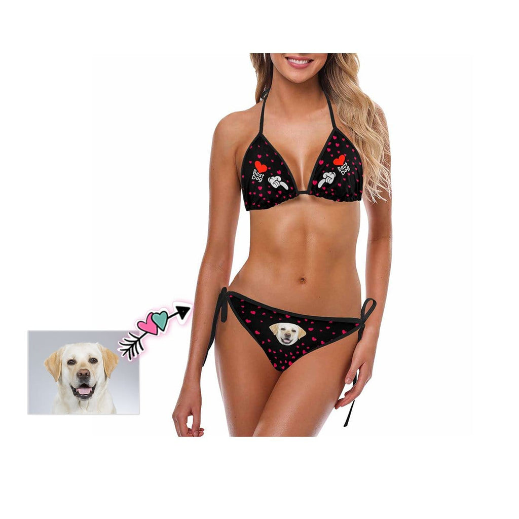Custom Best Dog Face Bikini Swimsuit