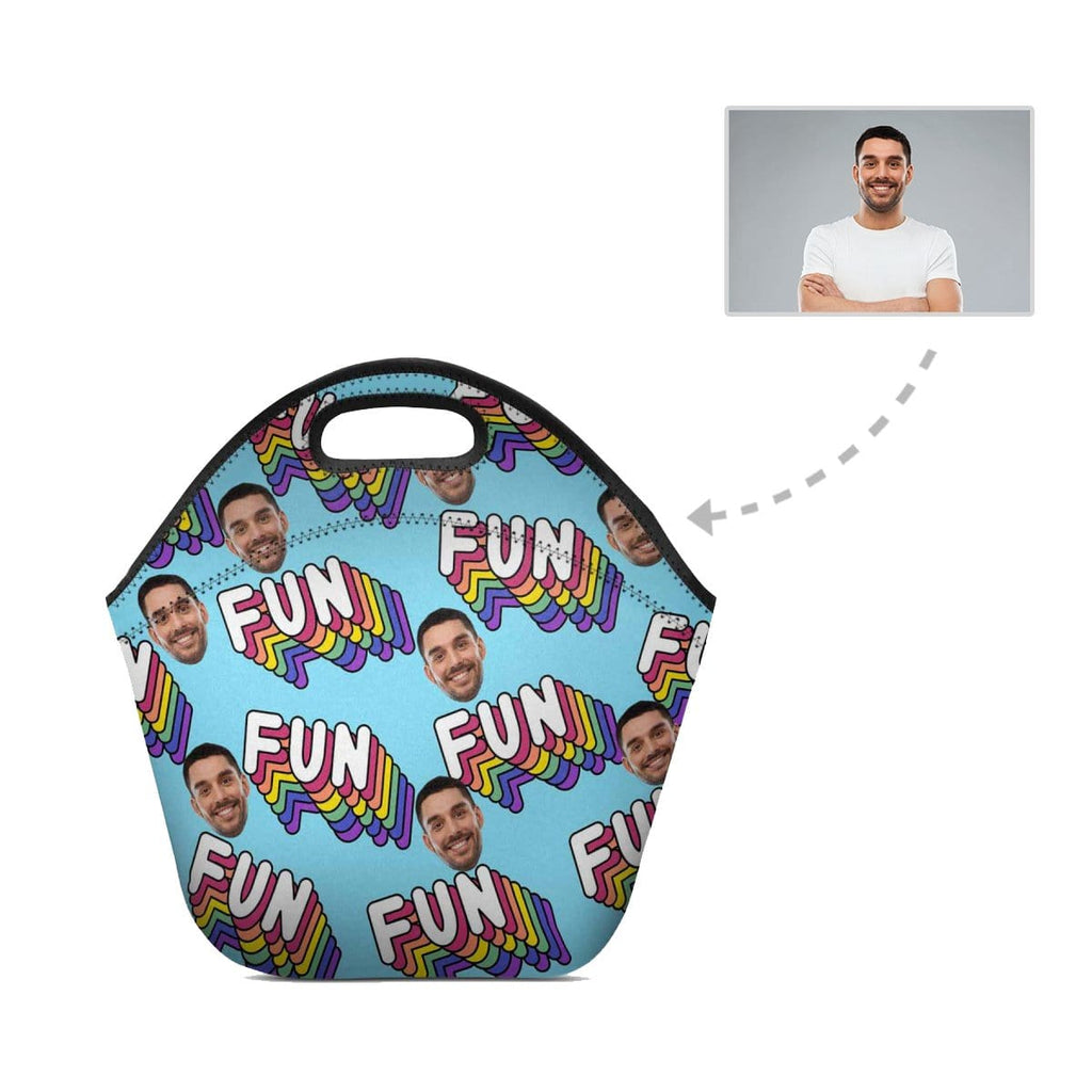 Custom Face Fun Neoprene Lunch Bag