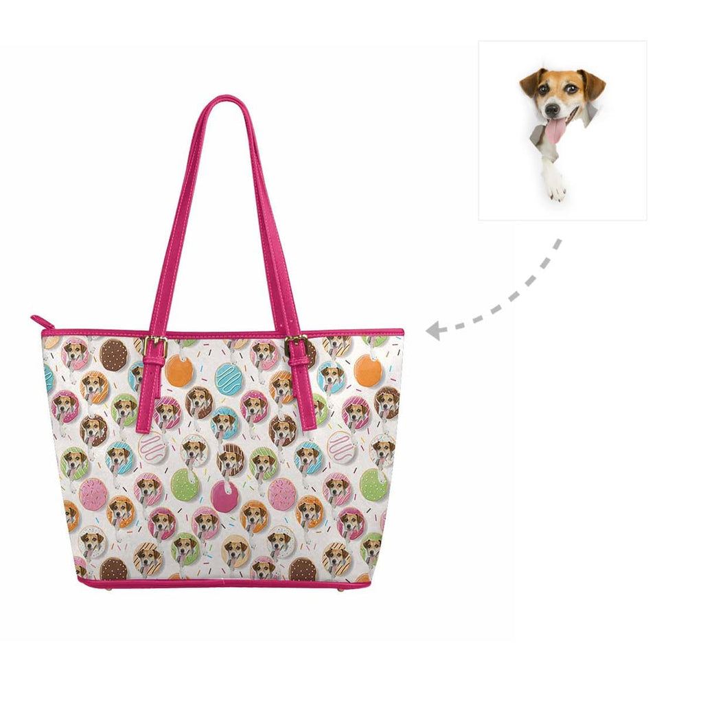 Custom Donuts Dog Women's Tote Bag