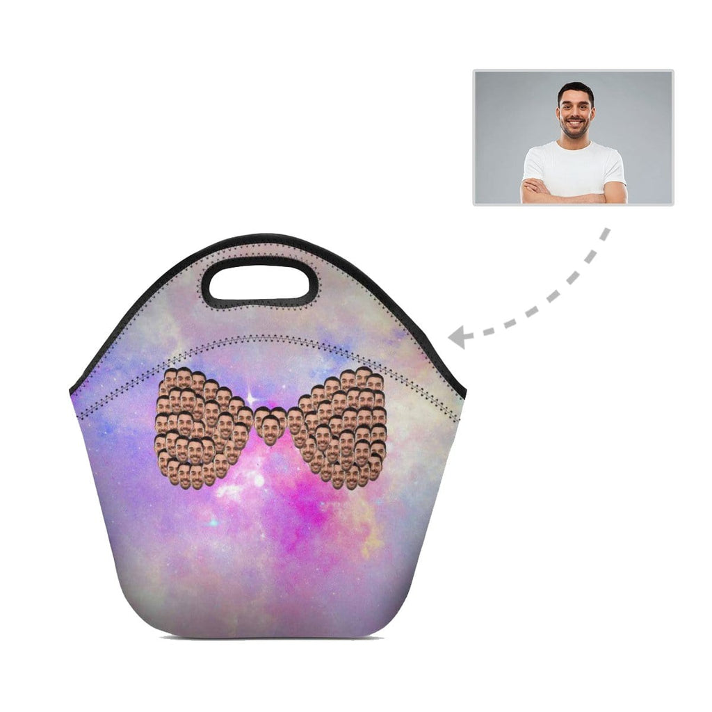 Custom Face Bow-knot Shape Neoprene Lunch Bag