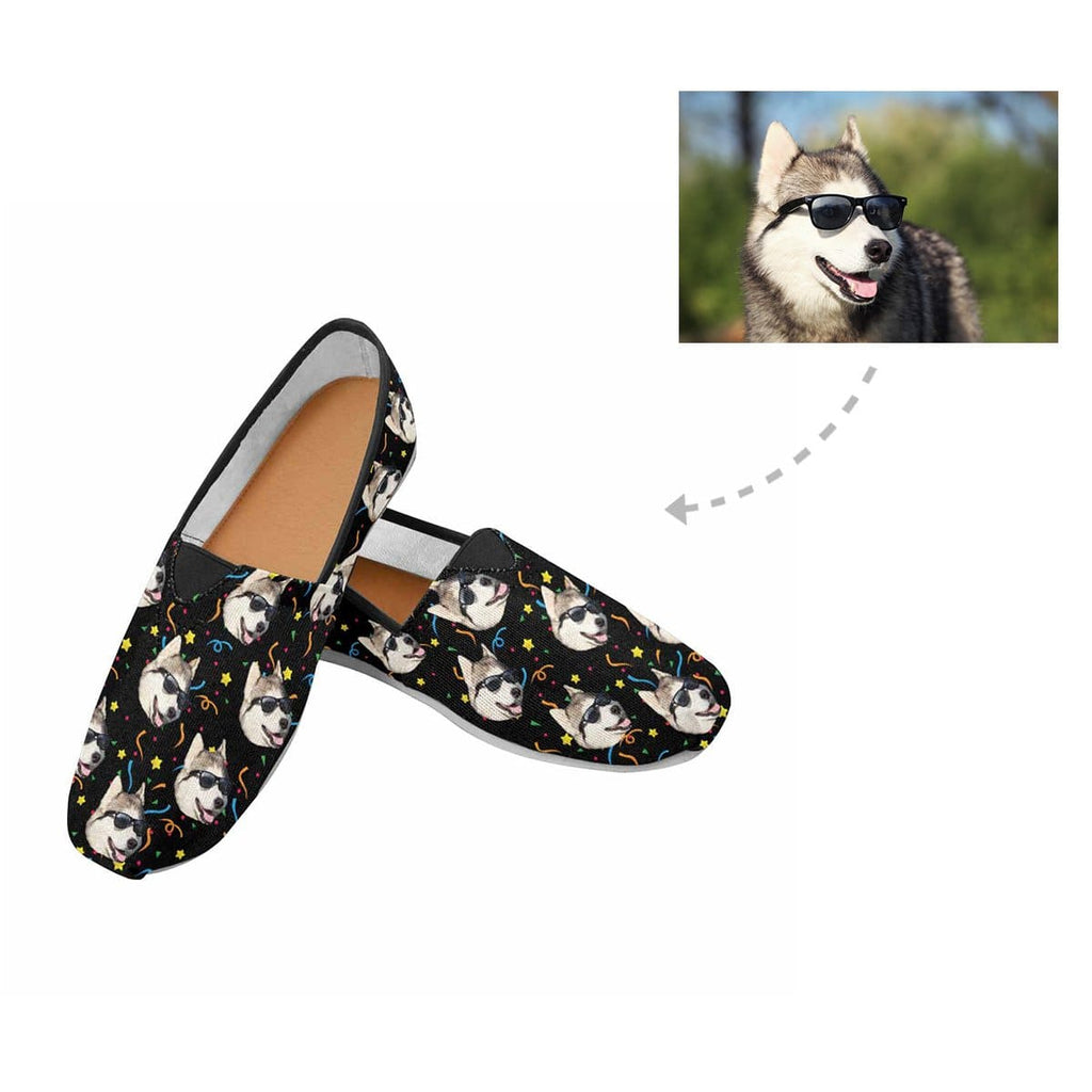 Custom Husky Face Women's Casual Shoes