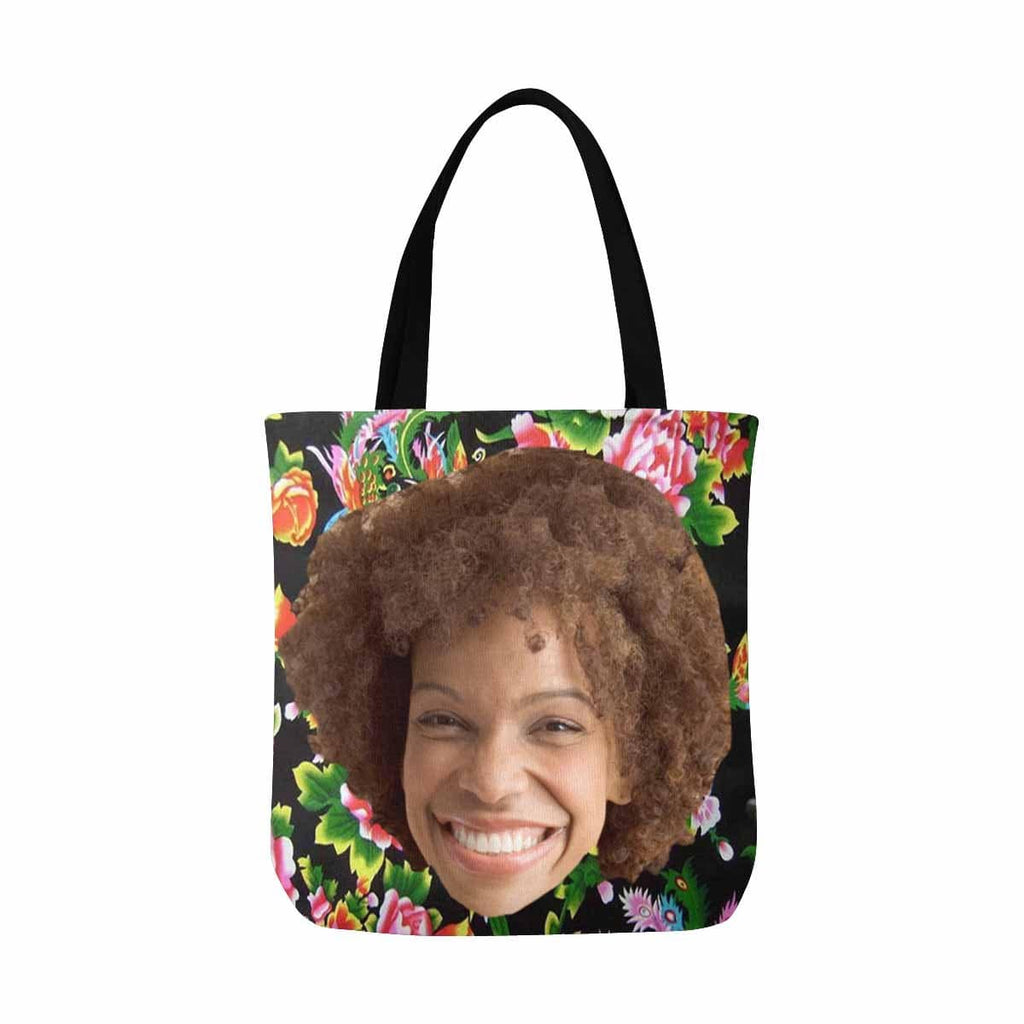 Custom Fashion  Smile Photo Tote Bag