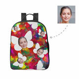 Custom Face Butterfly Unisex Nylon Backpack