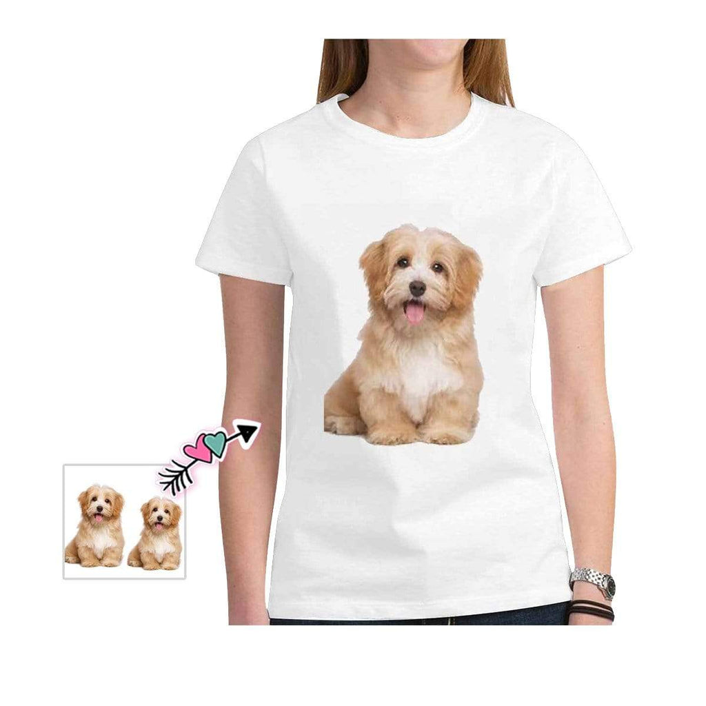 Custom Dog Face White Classic Women's T-shirt