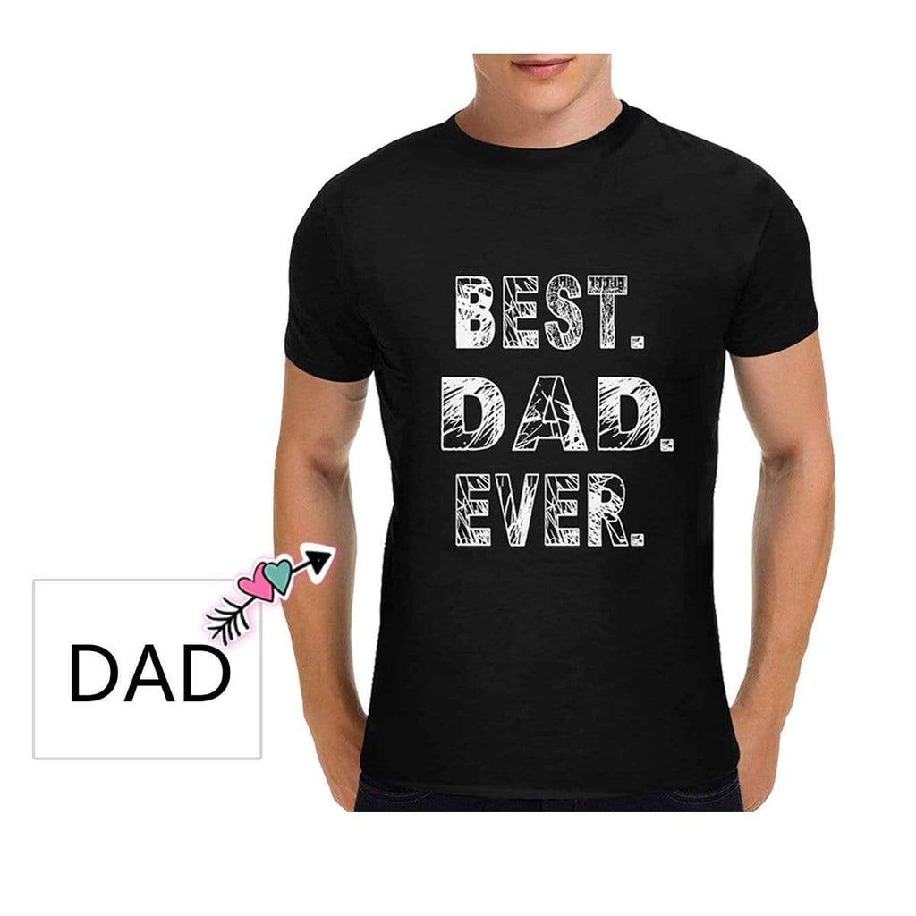 Custom Text Best Dad Classic Men's T-shirt