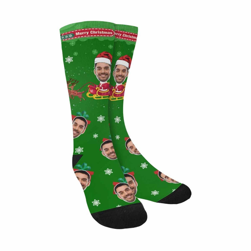 Custom Face Sled Sublimated Crew Socks