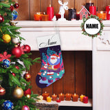 Custom Name Christmas Comic Santa Christmas Stocking