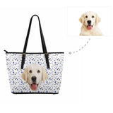 Custom Dog Paw and Bone Women's Tote Bag