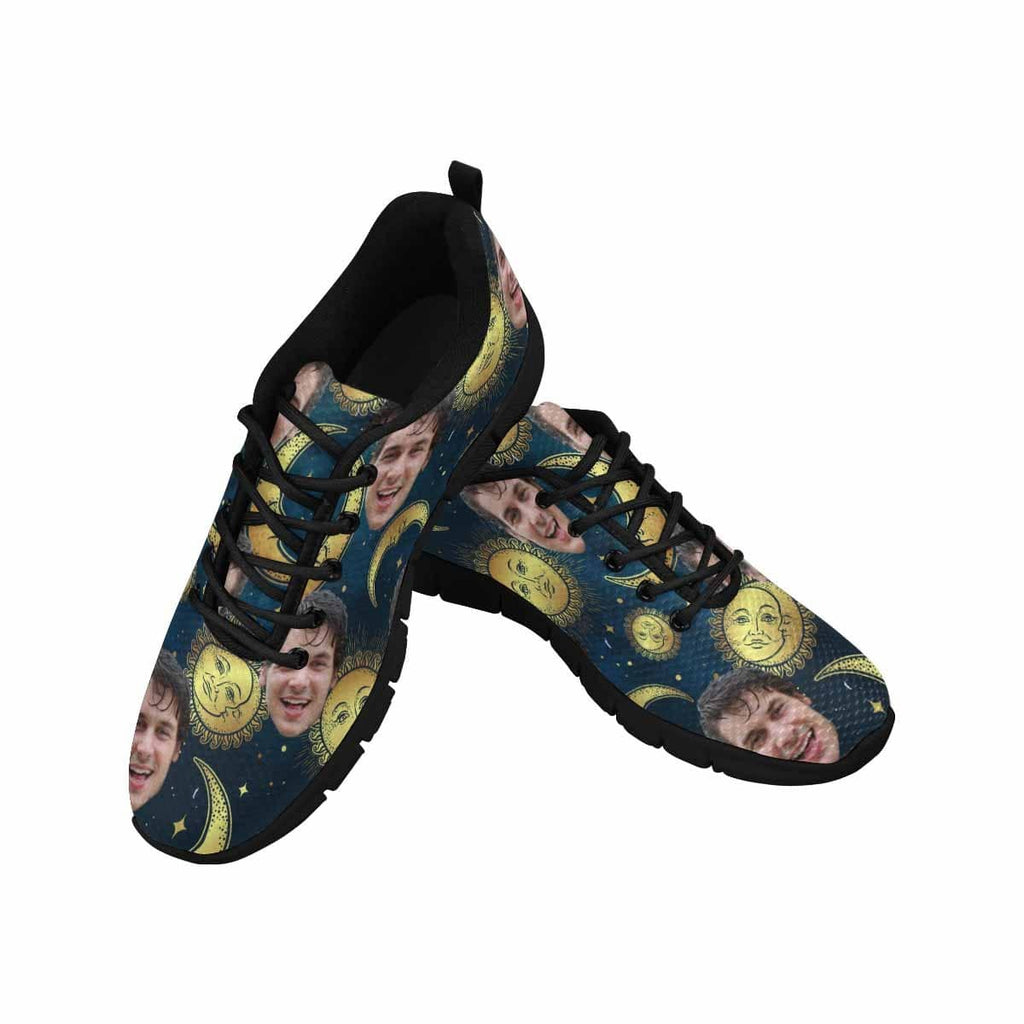 Custom Face Moon and Sun Men's Running Shoes