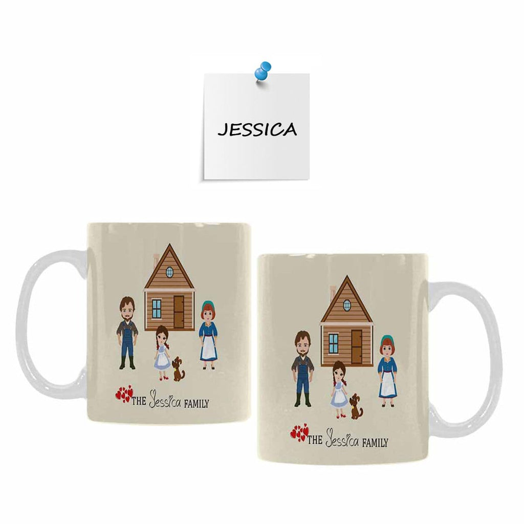 Custom Family Name 05 Classical White Mug