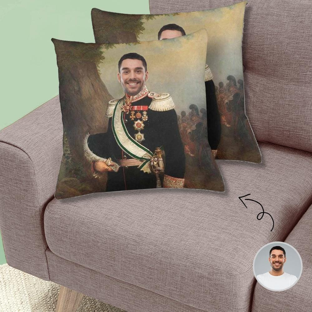 Custom Vintage Prince Face Throw Pillow Cover