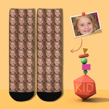 Custom Face Seamless Kid's Socks