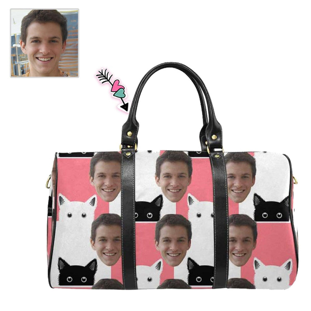 Custom Face Cartoon Cat Travel Bag