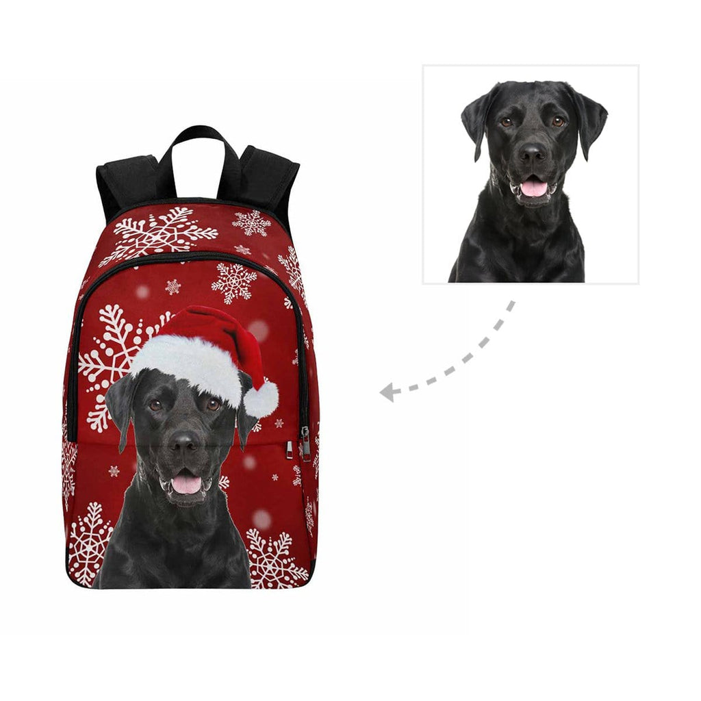 Custom Dog Christmas Snowflake Backapck