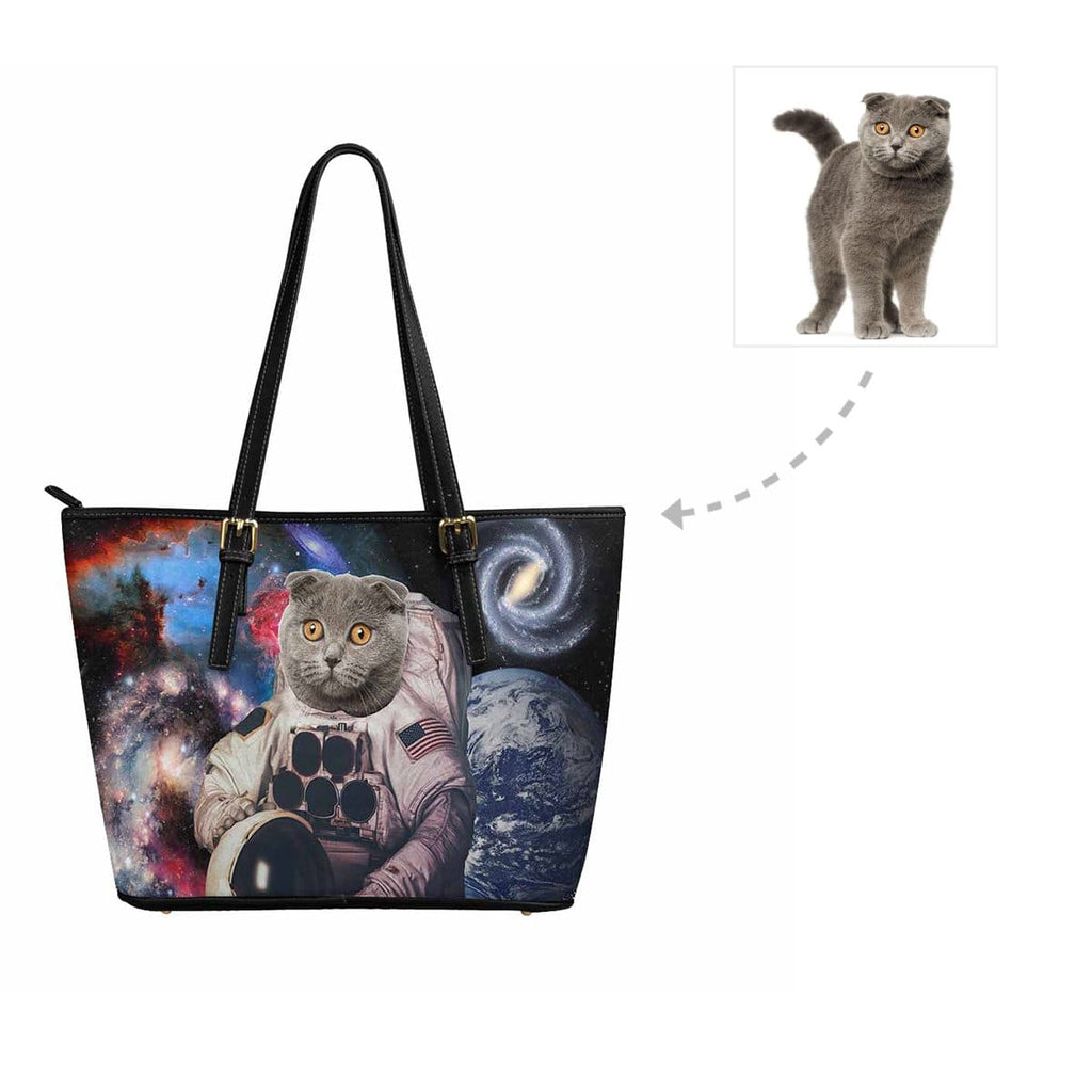 Custom Galaxy Cat Women's Tote Bag