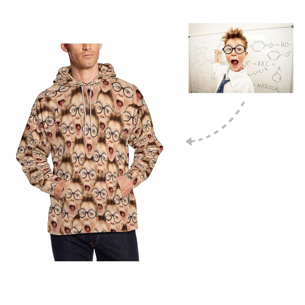 Custom Boy Multi Face Men's All Over Print Hoodie