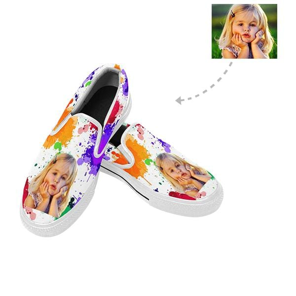 Custom Photo Watercolor Slip-on Canvas Men's Shoes