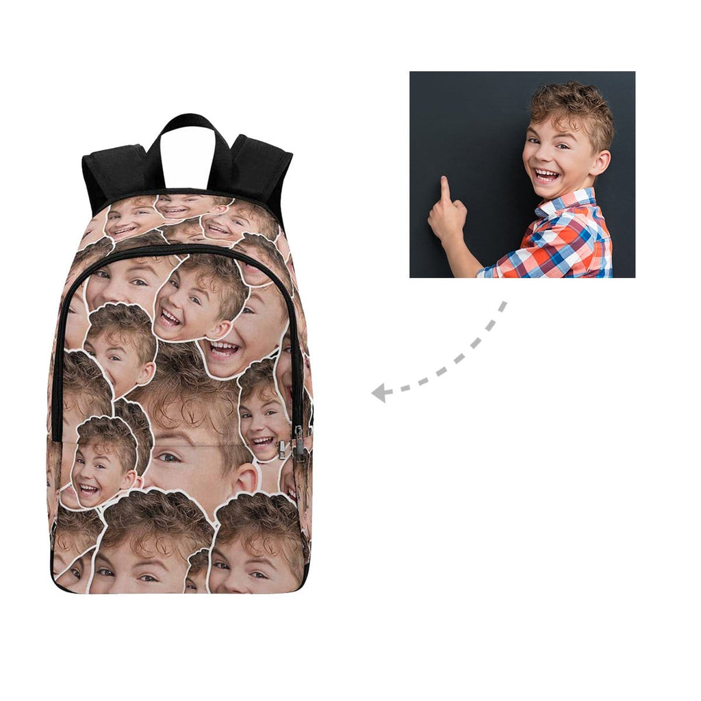 Custom Boy Face Pattern Backpack