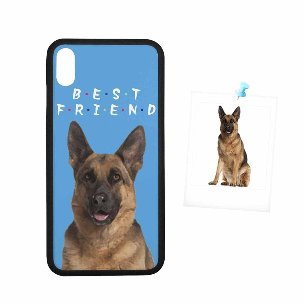 Custom Face Blue Dog Rubber Case for Iphone