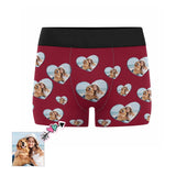 Custom Couple Love Heart Men's Boxer Briefs