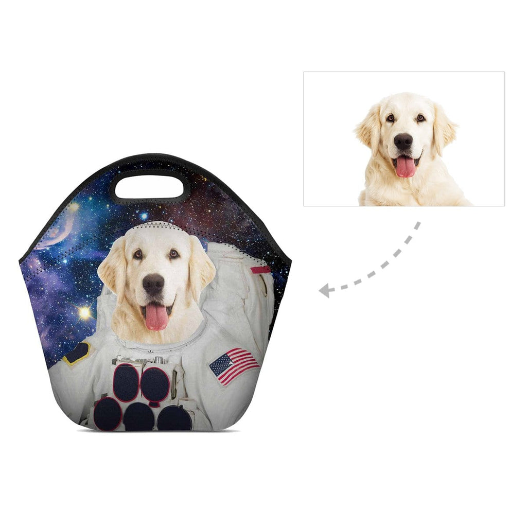 Custom Galaxy Dog Neoprene Lunch Bag