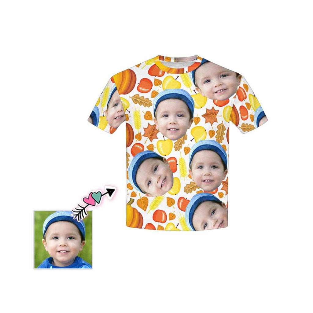 Custom Face Fruits Kid's All Over Print T-shirt