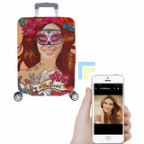 Custom Women's Face Day of the Dead Luggage Cover