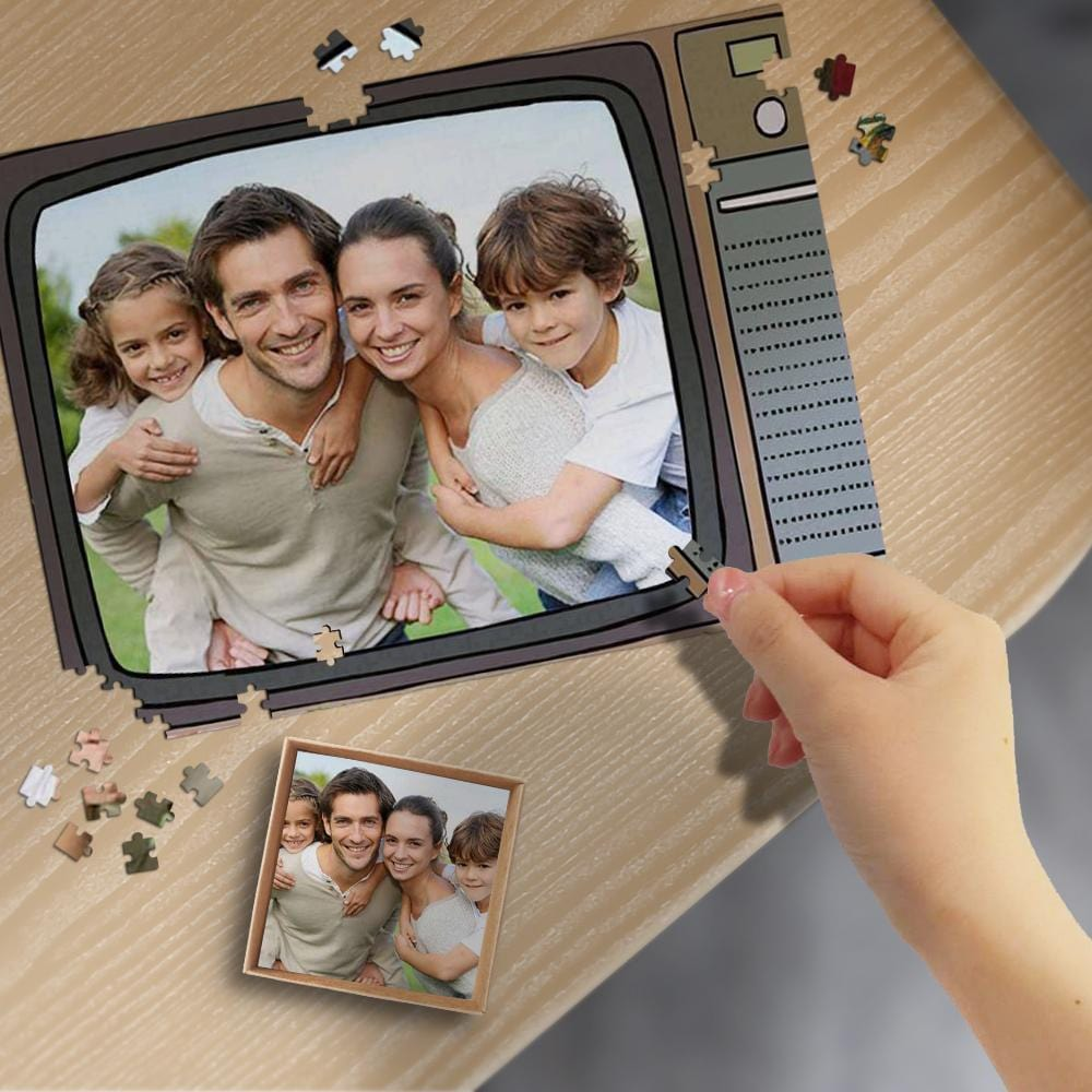 Custom Photo Television Wooden Photo Puzzle 500/1000 Pieces