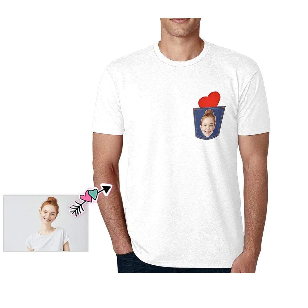 Custom Girlfriend Face Heart Men's All Over Print T-shirt