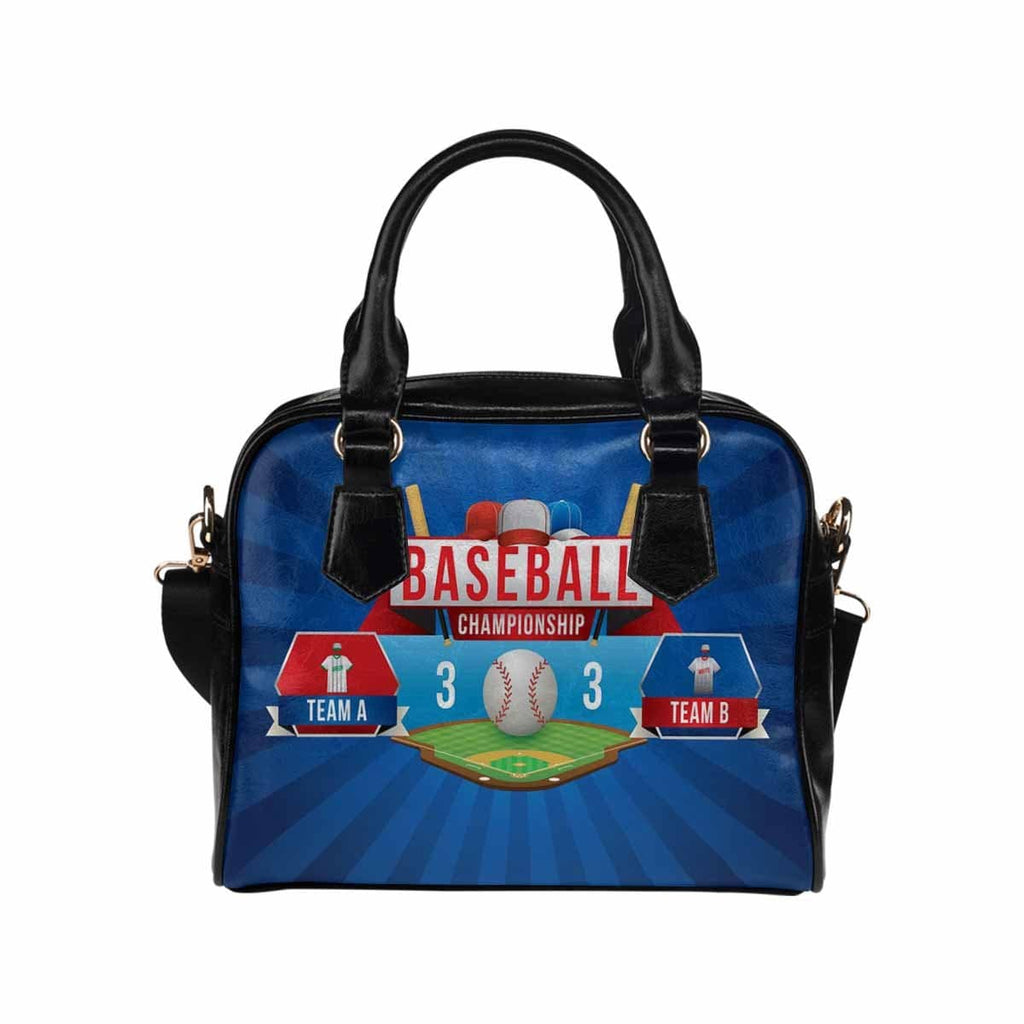 Custom Sports Team Name On Shoulder Handbag