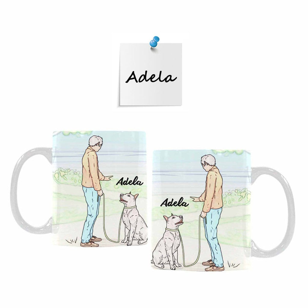 Custom Your Dog Name Teach Your Dog Classical White Mug(11 OZ)