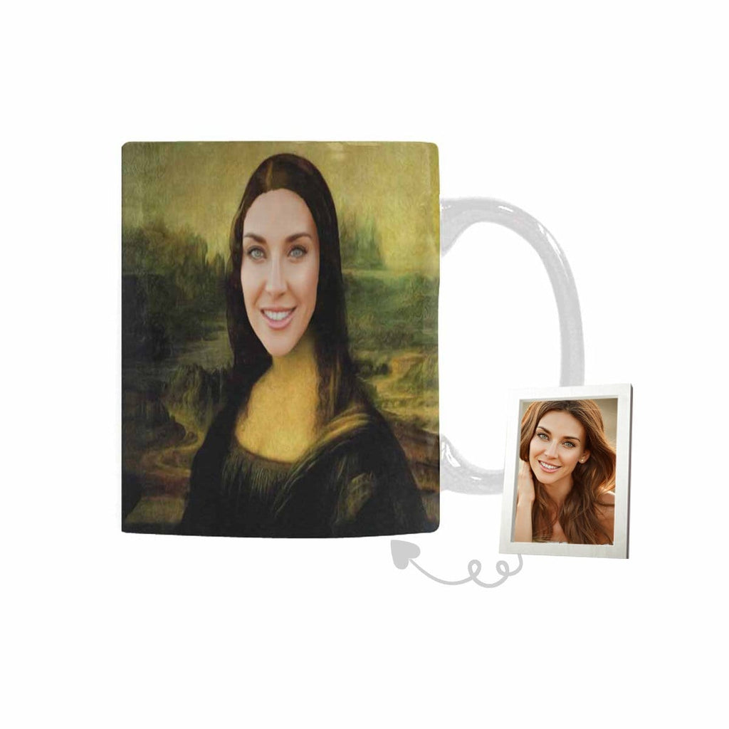 Custom Mona Lisa Face Classical White Mug