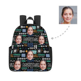 Custom Face Characters Multi-pocket Nylon Backpack