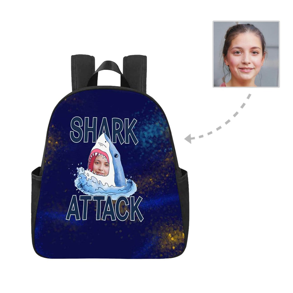 Custom Face Shark Multi-pocket Nylon Backpack