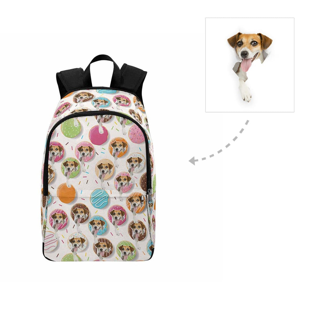 Custom Donuts Dog Face Backpack