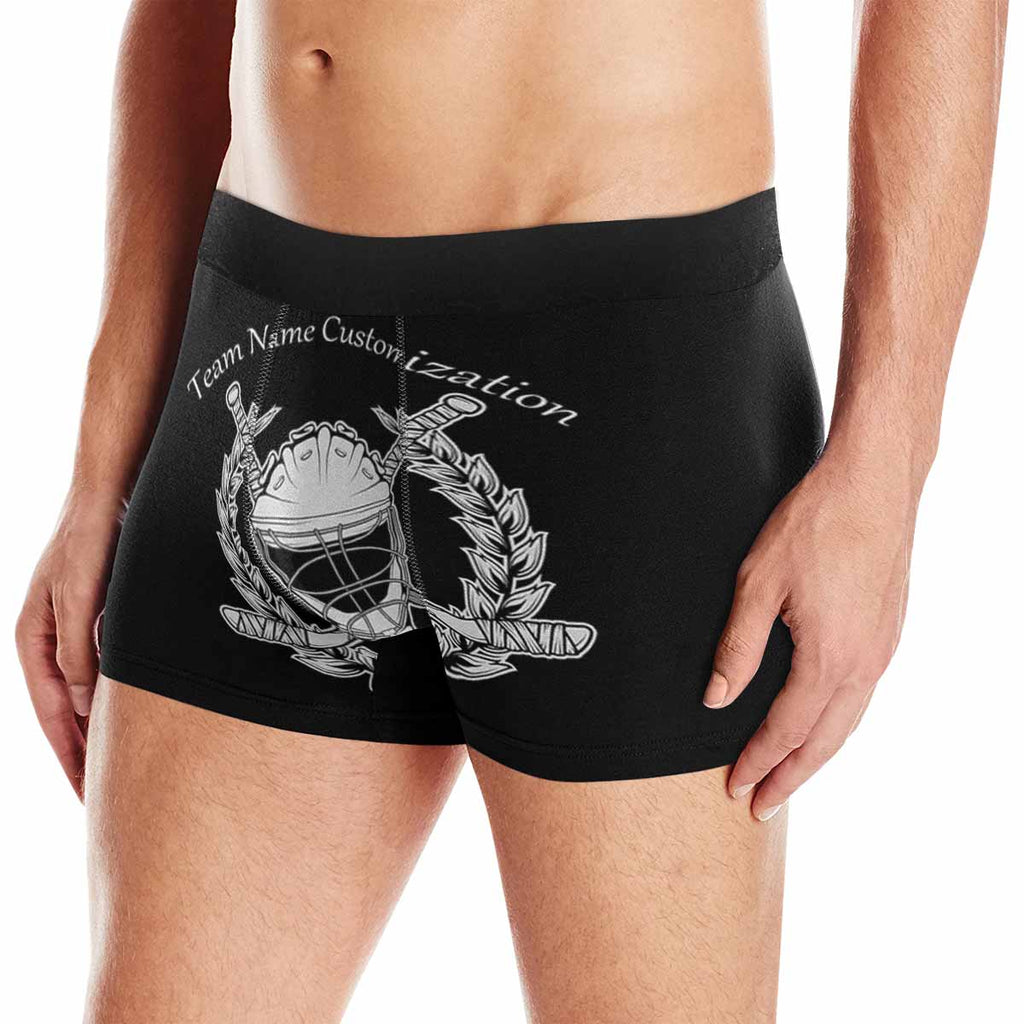 Custom Hockey Team Name Men's Boxer Briefs