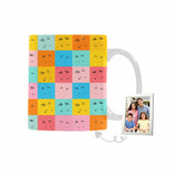 Custom Colorful Family Emoji Classical White Mug