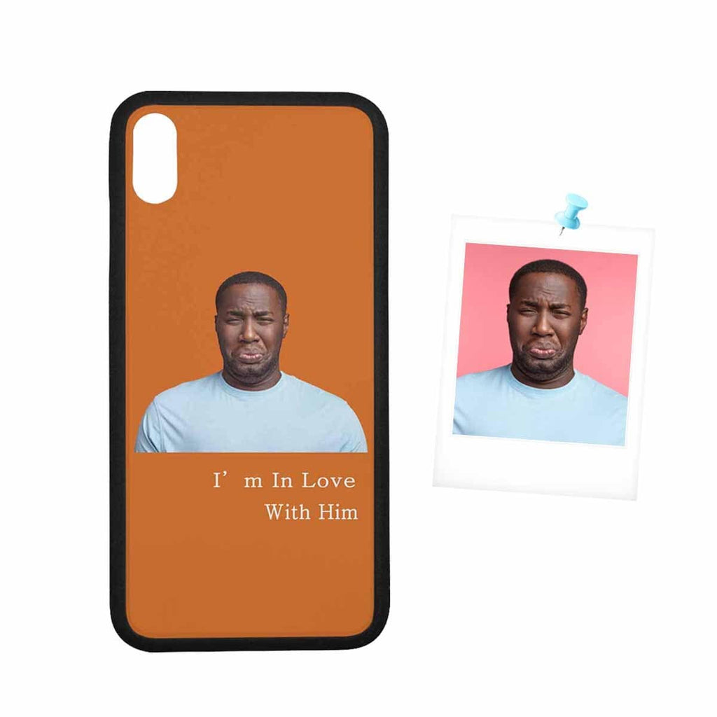 "Custom Face Couple Rubber Case for Iphone XS Max (6.5"")"