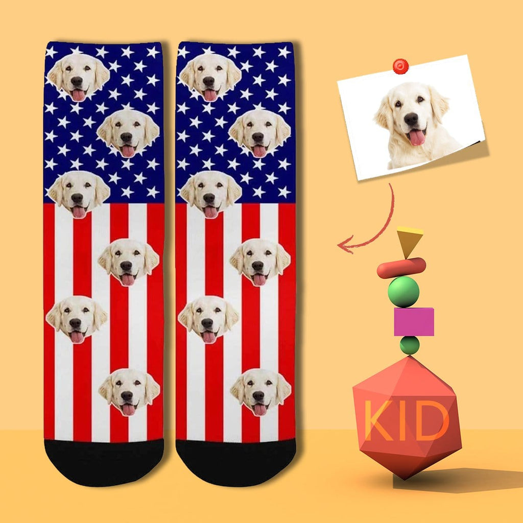 Custom Face Flag Kid's Socks