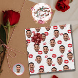 Custom Face Red Lips Gift Wrapping Paper