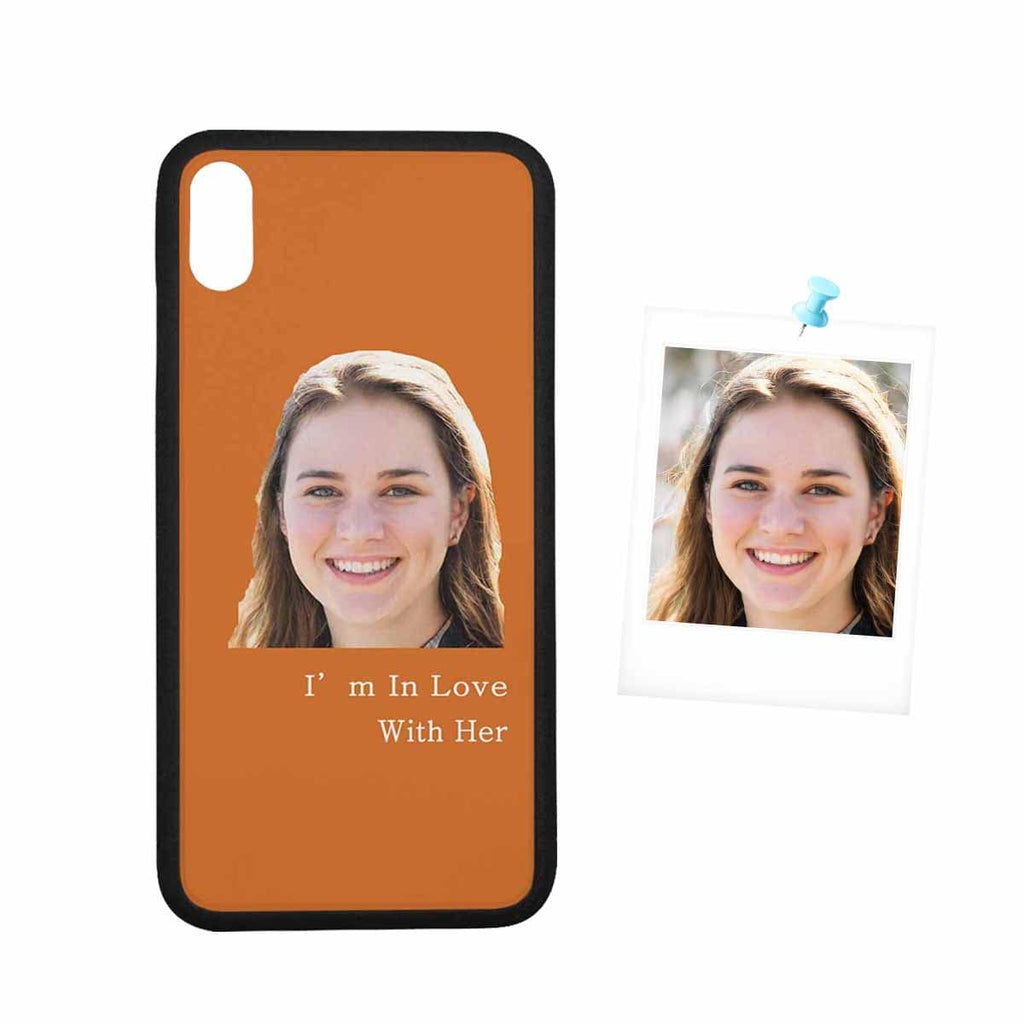 "Custom Face Photo Couple Rubber Case for Iphone XS Max (6.5"")"