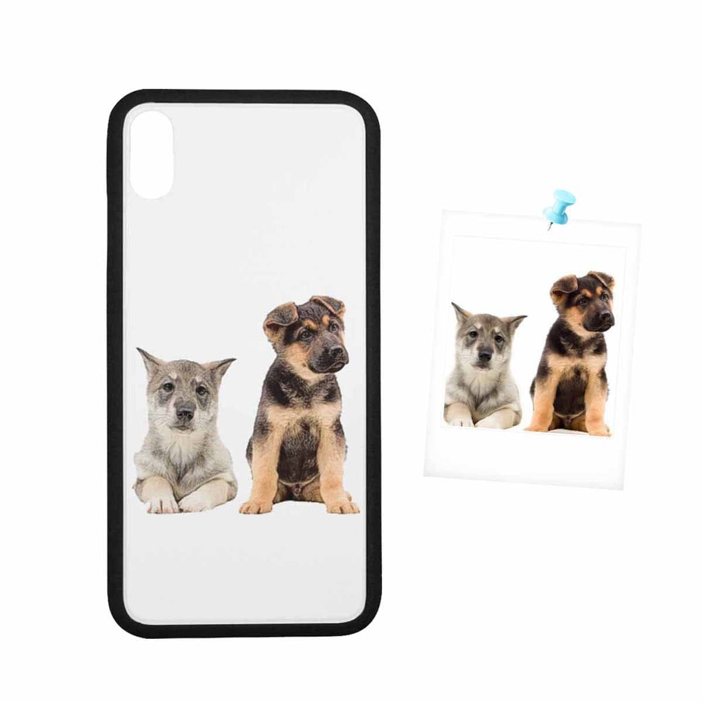 Custom Cute Dog Photo Rubber Case for Iphone 8 Plus/XR/XS Max